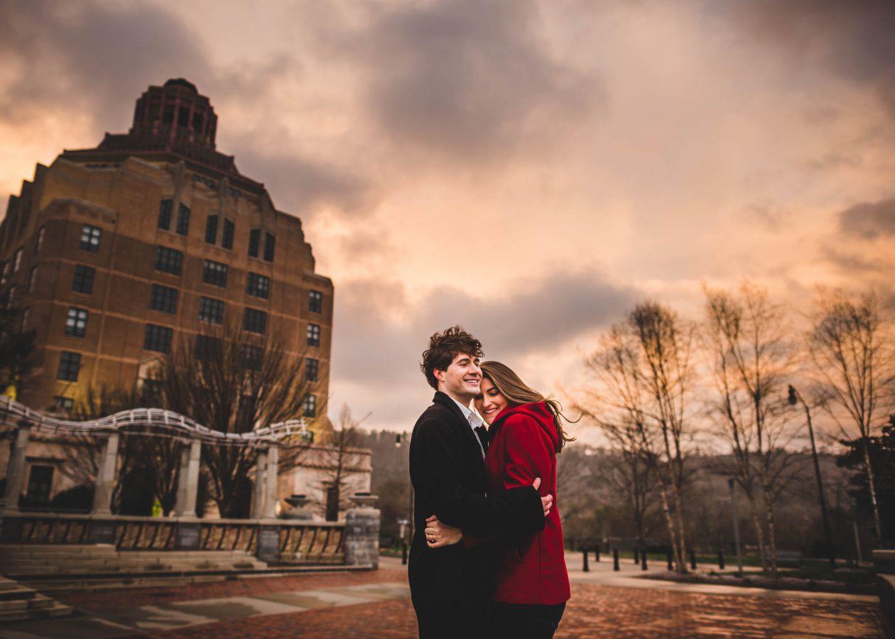 asheville-engagement-photographers-sunset