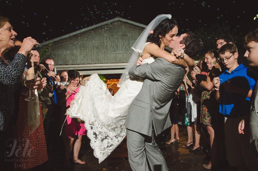 bubble exit at wedding