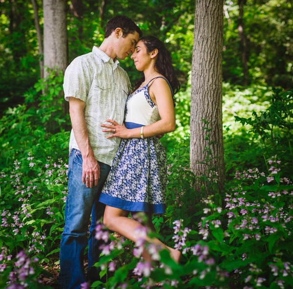 Asheville Botanical Gardens Engagement Photography
