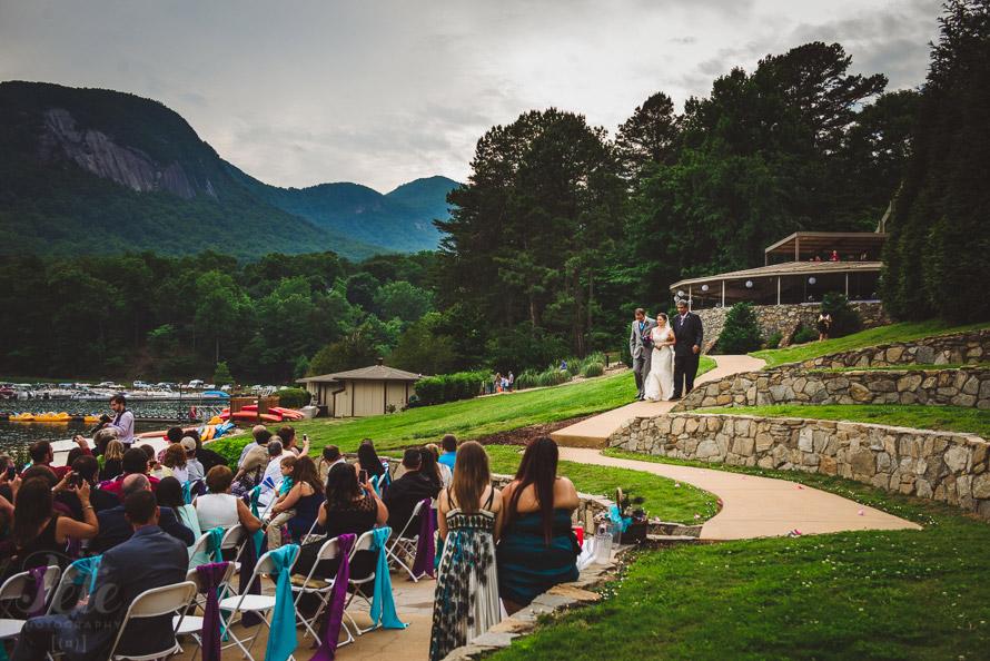 Wedding ceremony at Rumbling Bald