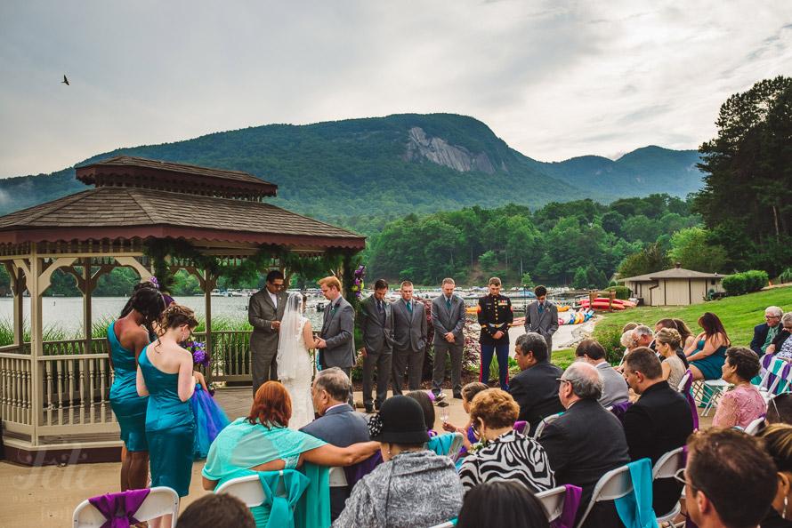 Lake Lure ceremony