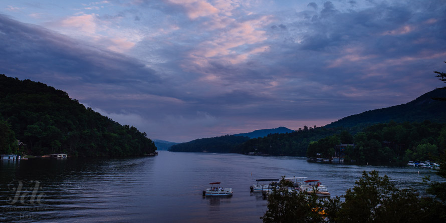 Sunset over Lake Lure