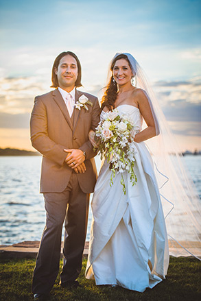 Savannah wedding, bride and groom portrait