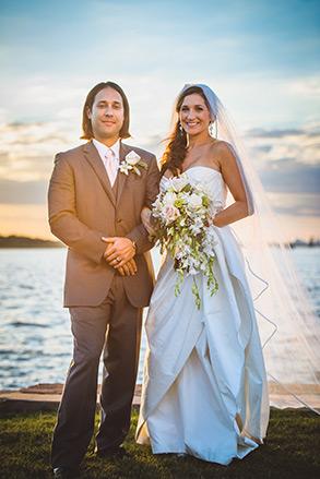 Savannah wedding, bride and groom portrait