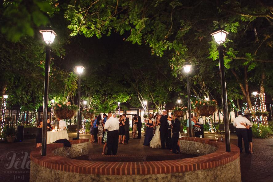 Dancing in courtyard