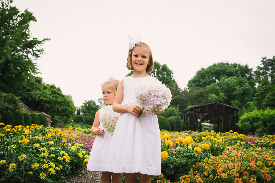 Flower girls portrait