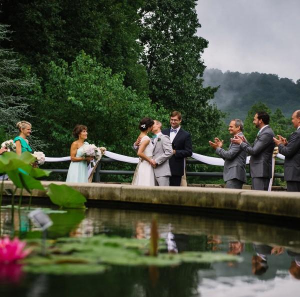 Asheville Wedding at NC Arboretum
