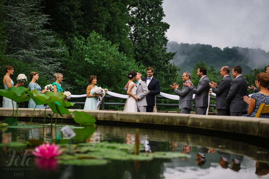 Asheville Wedding at NC Arboretum