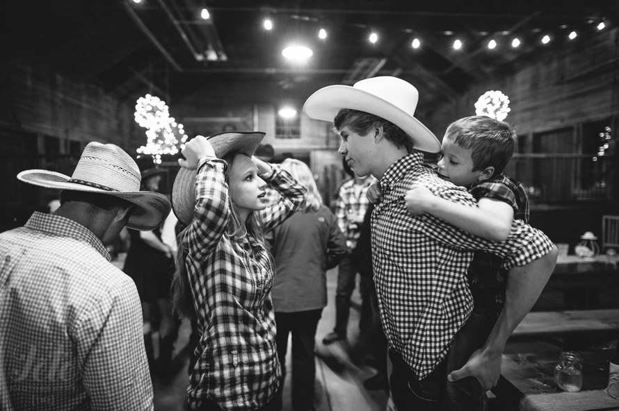 Guests in cowboy hats