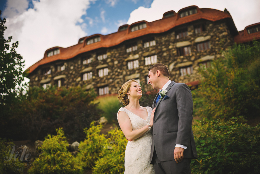 Wedding Portrait at Grove Park Inn