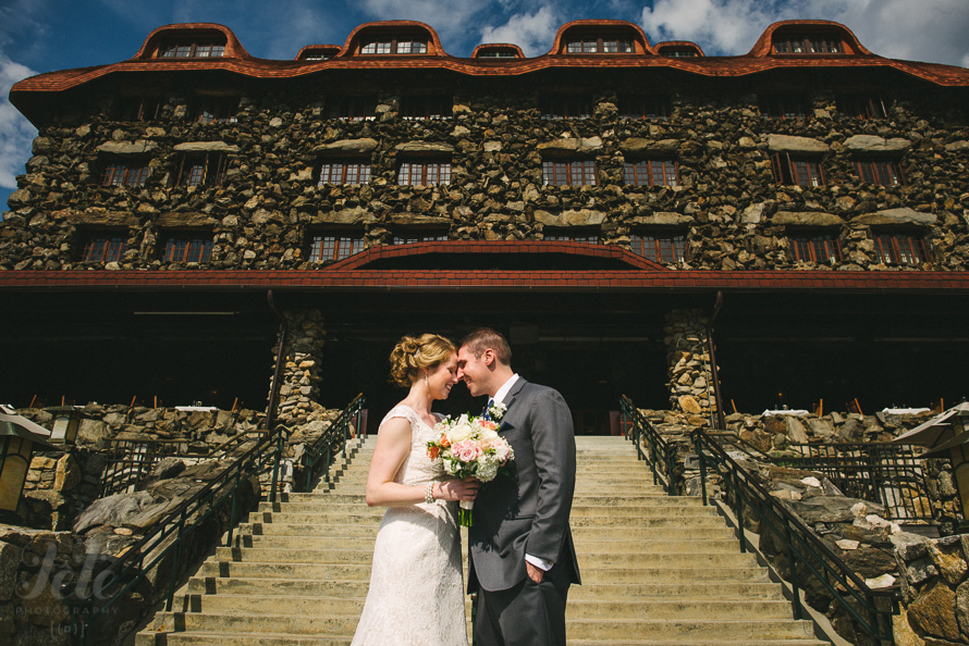 Grove Park Inn wedding portrait