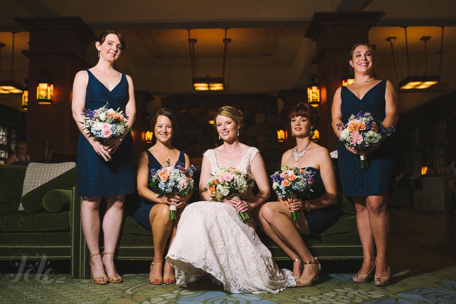 Vanity Fair style bridal party