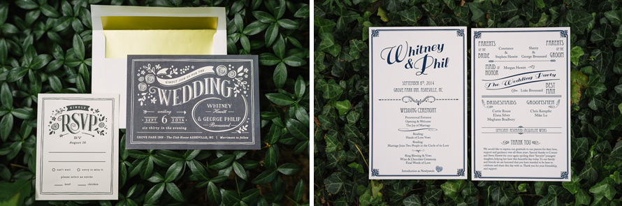 1920's wedding invitations