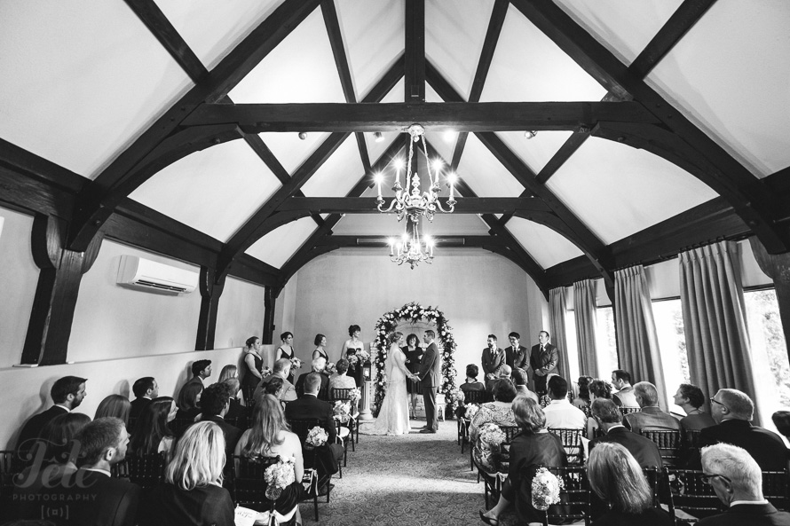 Country club wedding ceremony