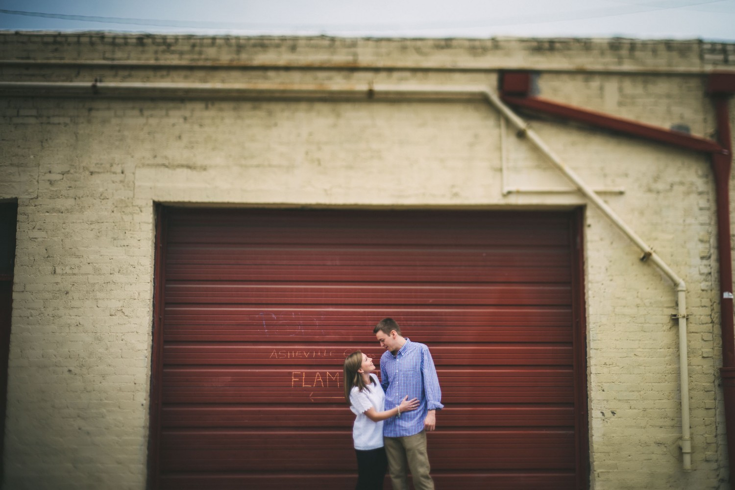 River Arts District engagement session