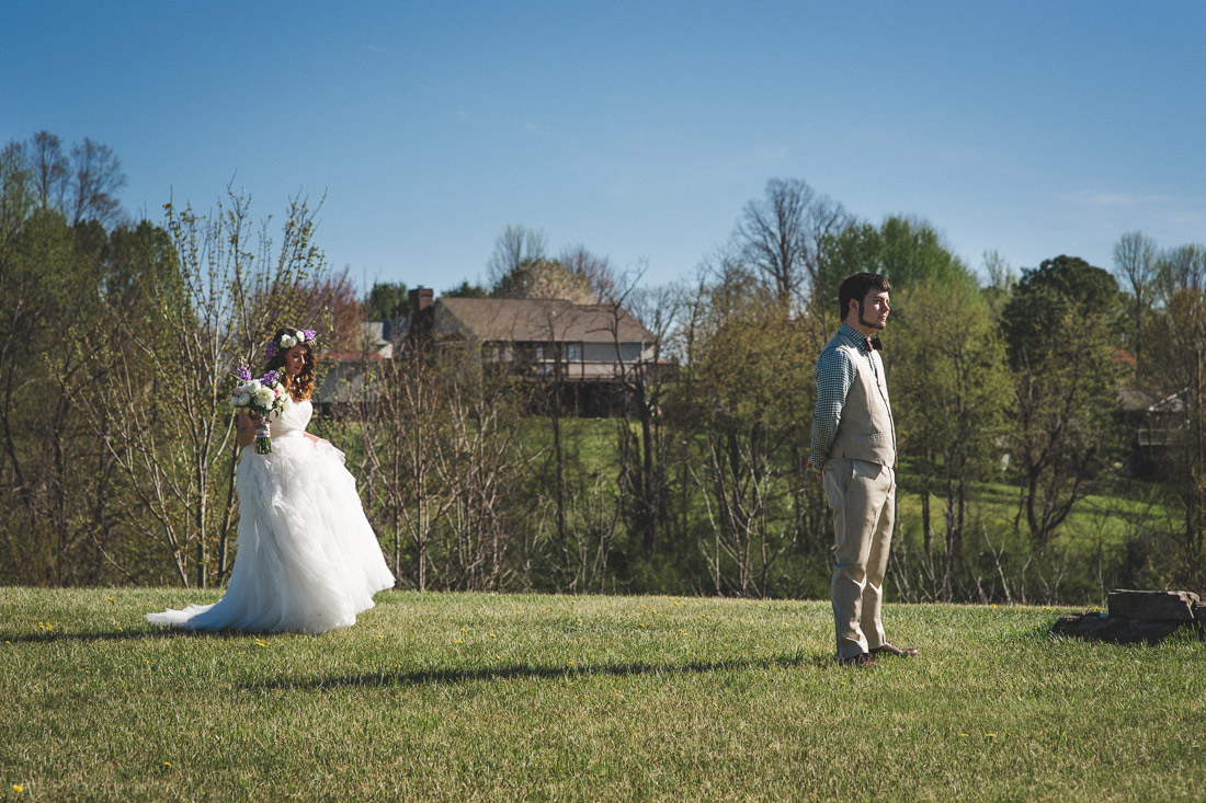first look at wedding
