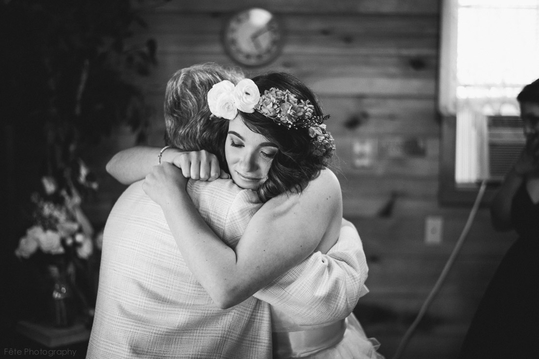 moment at wedding