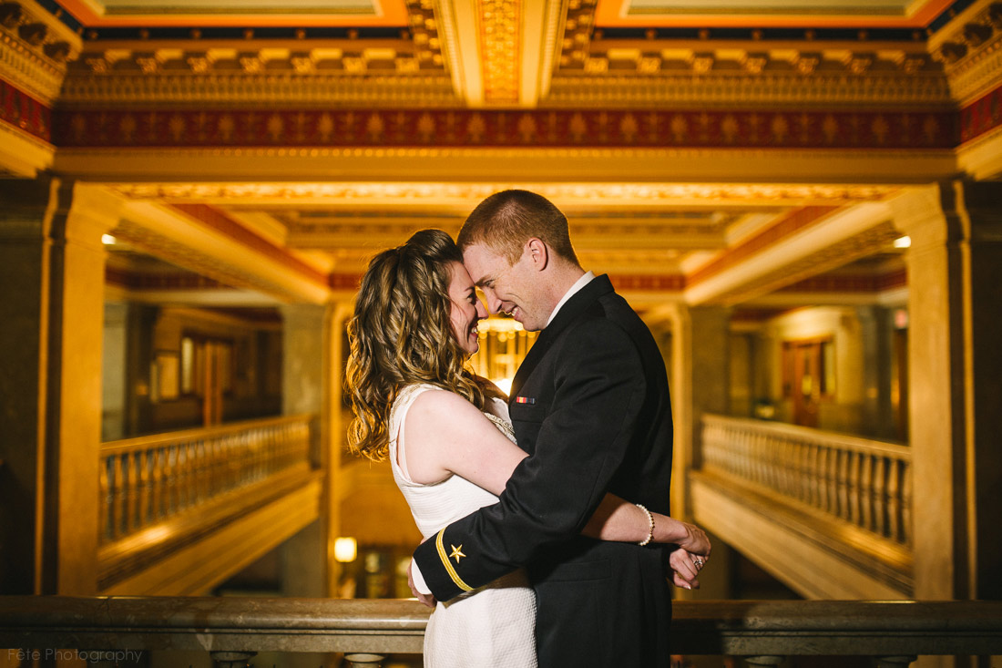 asheville courthouse wedding portrait