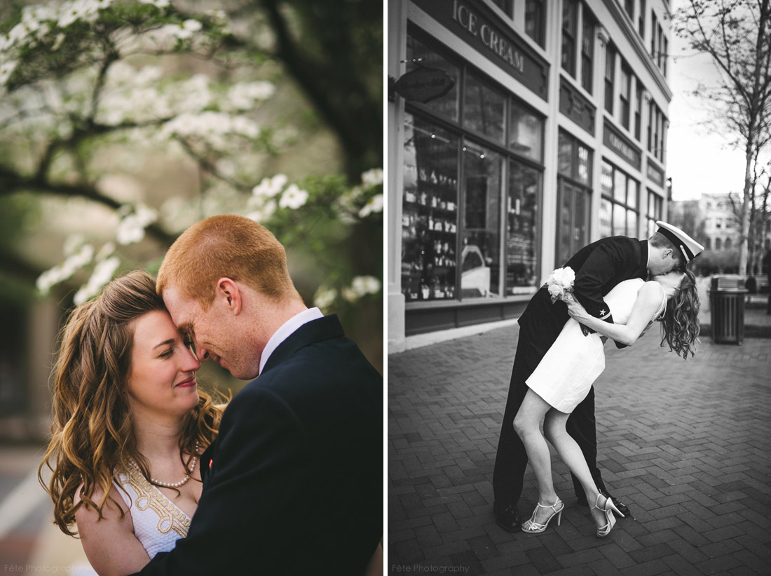 sailors kiss, wedding photo