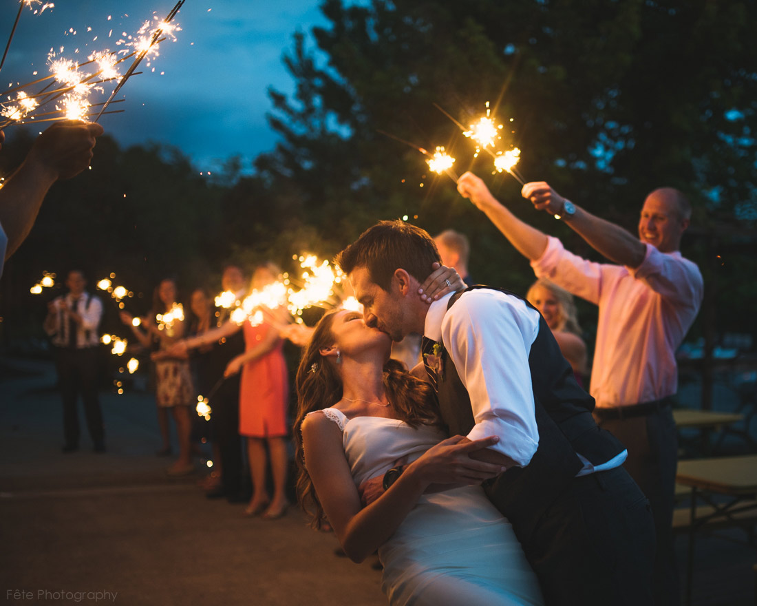 kiss with sparklers