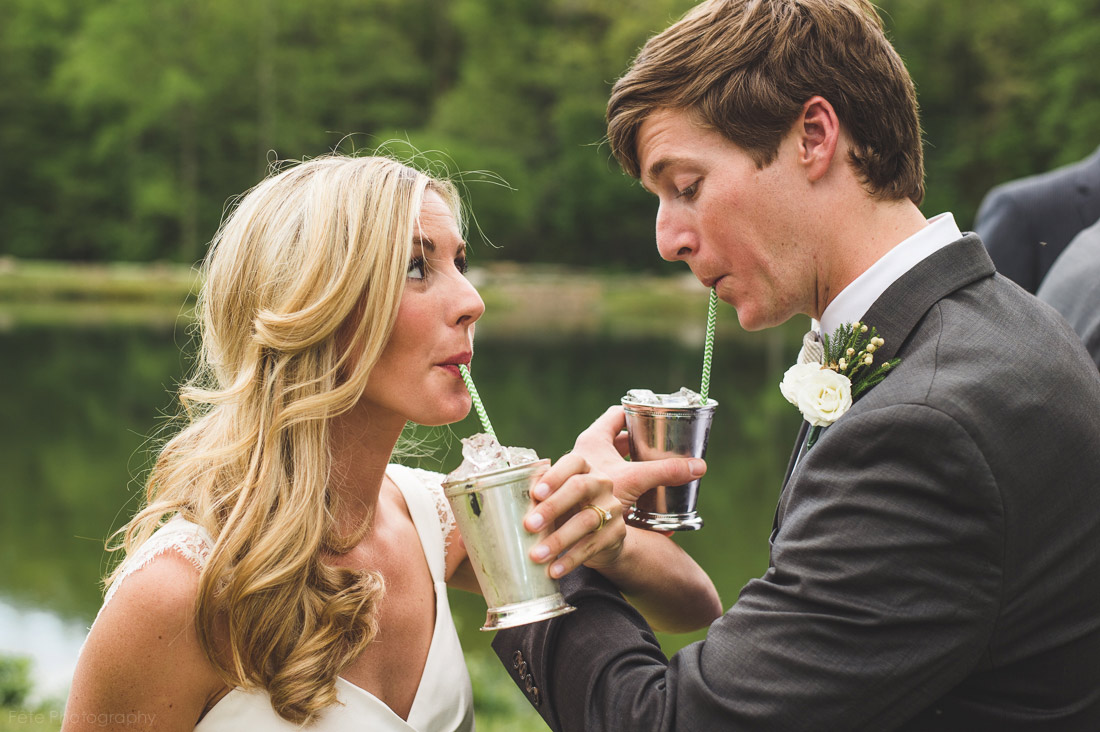 Bride and groom's cocktail