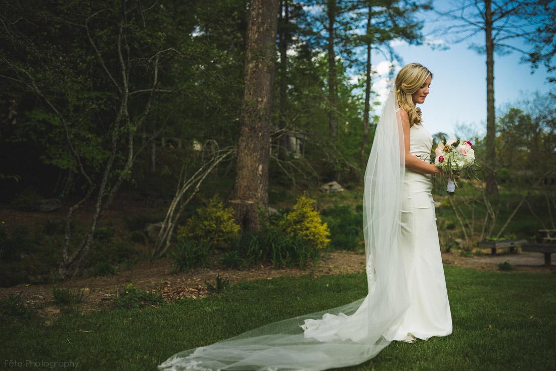 Artistic bridal portrait