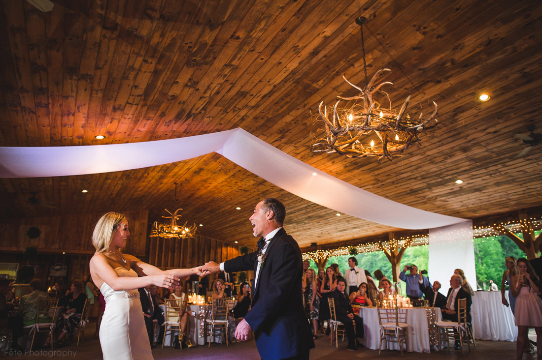 Wedding reception at Laurel Ridge in Waynesville, NC
