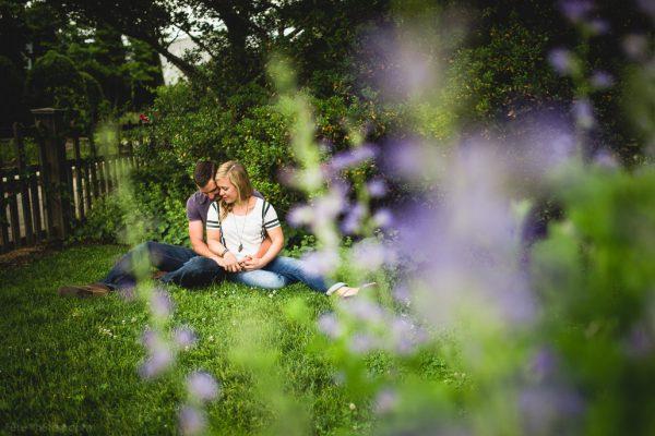 Outdoor Engagement Session at NC Arboretum