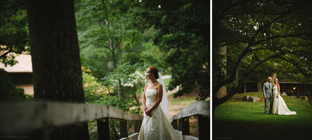 Camp wedding portraits