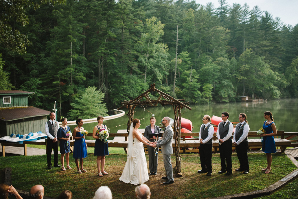 Camp wedding