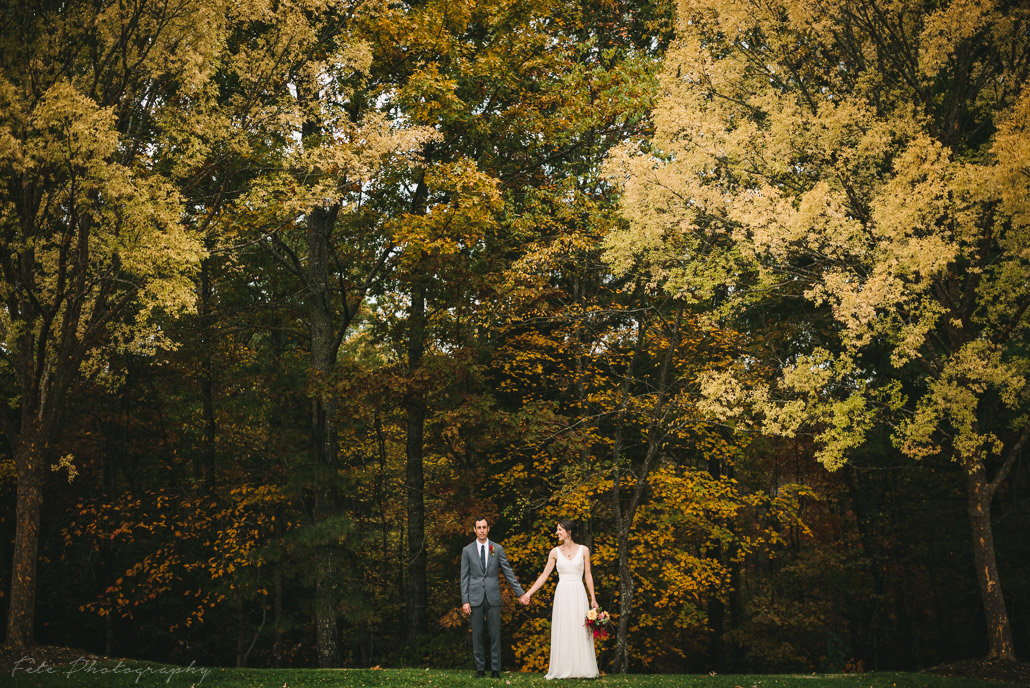 Fall Asheville wedding