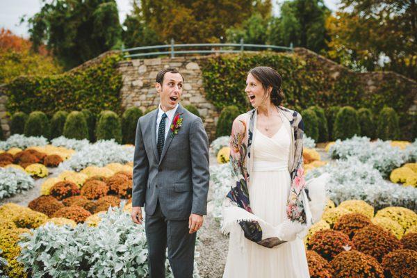 Fall Asheville Wedding at NC Arboretum