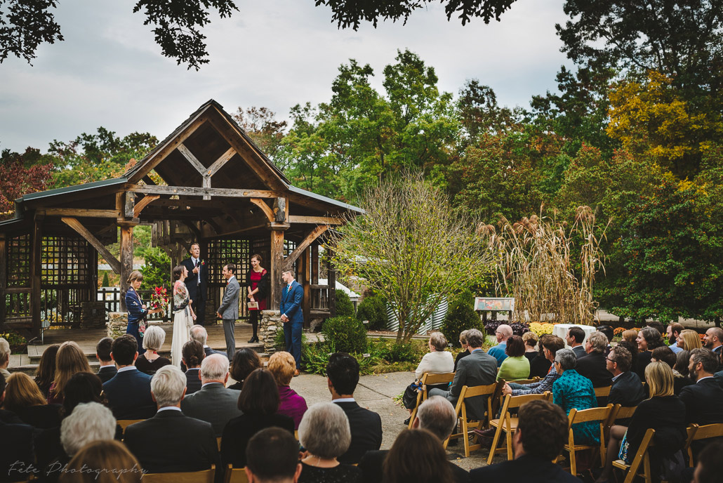 NC Arboretum wedding ceremony
