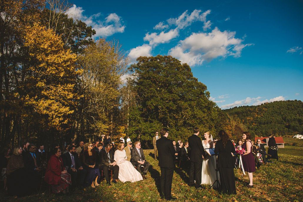 Asheville wedding in Marshall