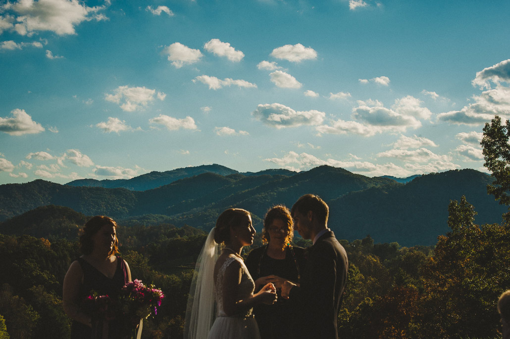 Asheville wedding mountain view