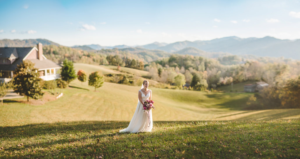 Asheville bridal portrait