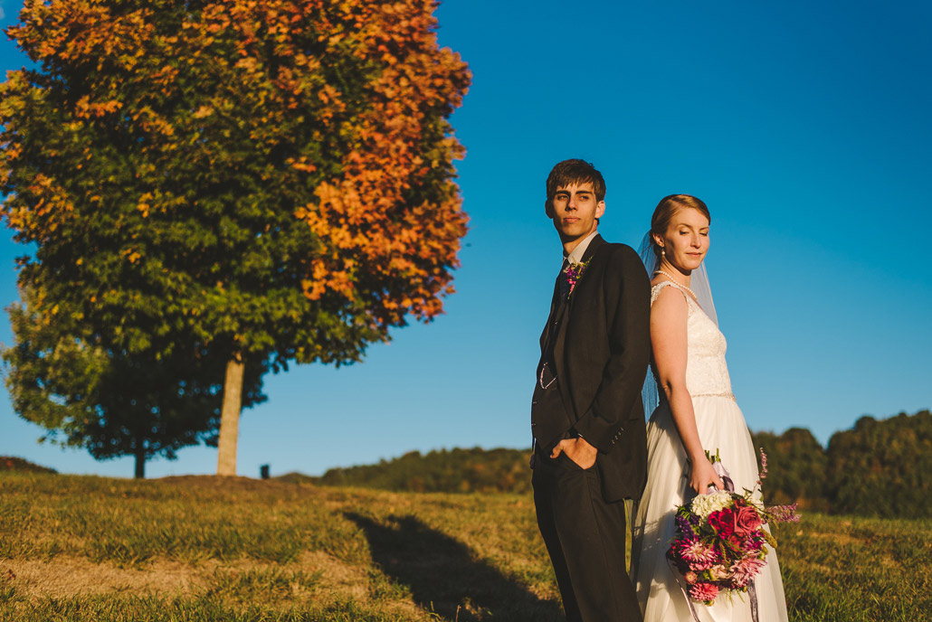 Colorful wedding photo