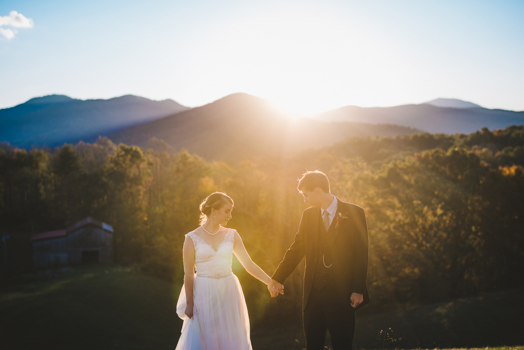 Asheville weddings at the Ridge