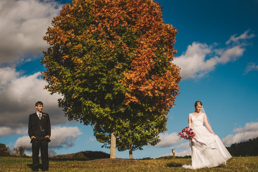 Fall wedding at The Ridge