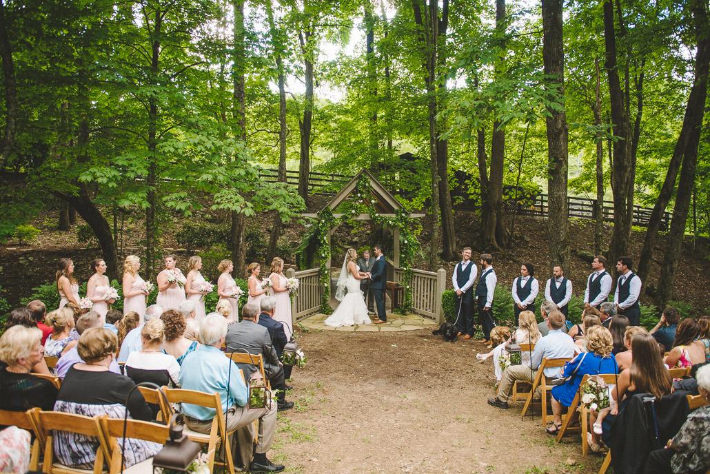 Hawkesdene wedding ceremony