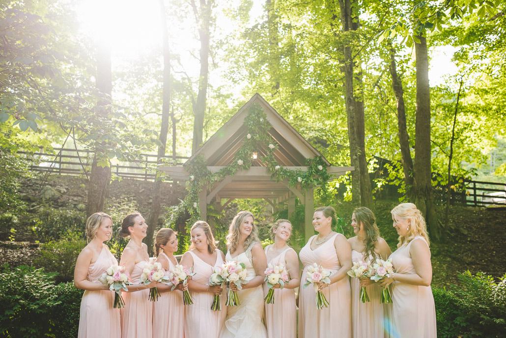 Hawkesdene wedding bridal party