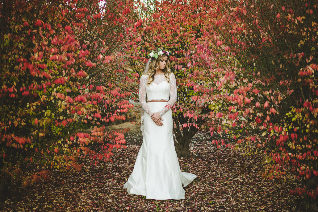 Bridal Session on a Christmas Tree Farm