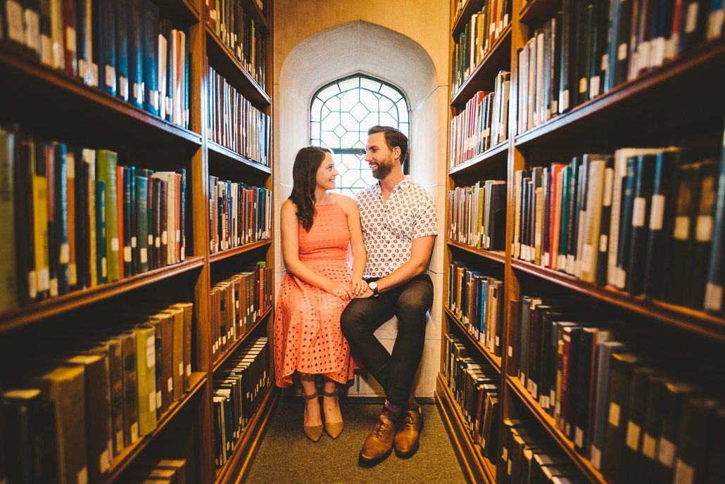 06-cute-library-engagement-photo
