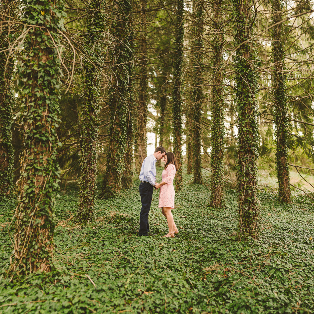 Biltmore woods engagement photo