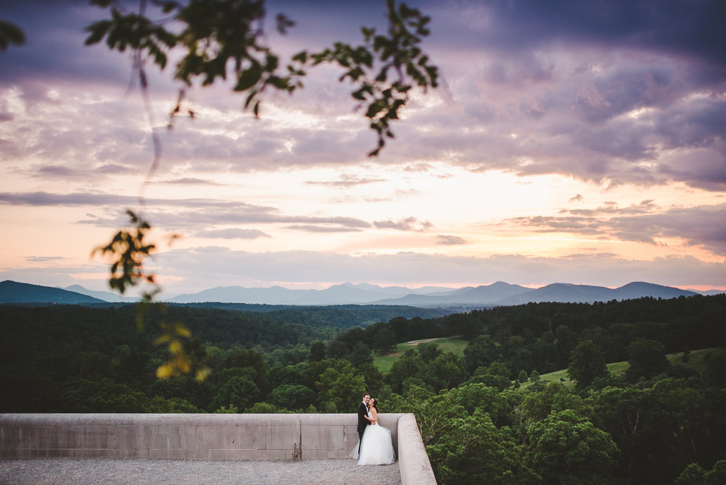 Biltmore sunset wedding photo