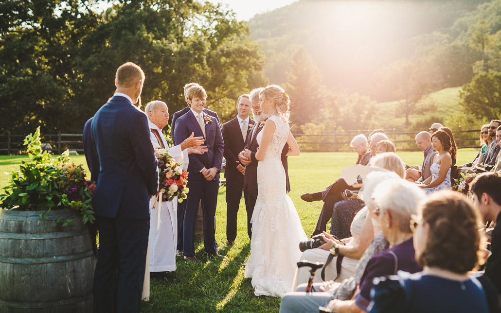 claxton farm wedding ceremony