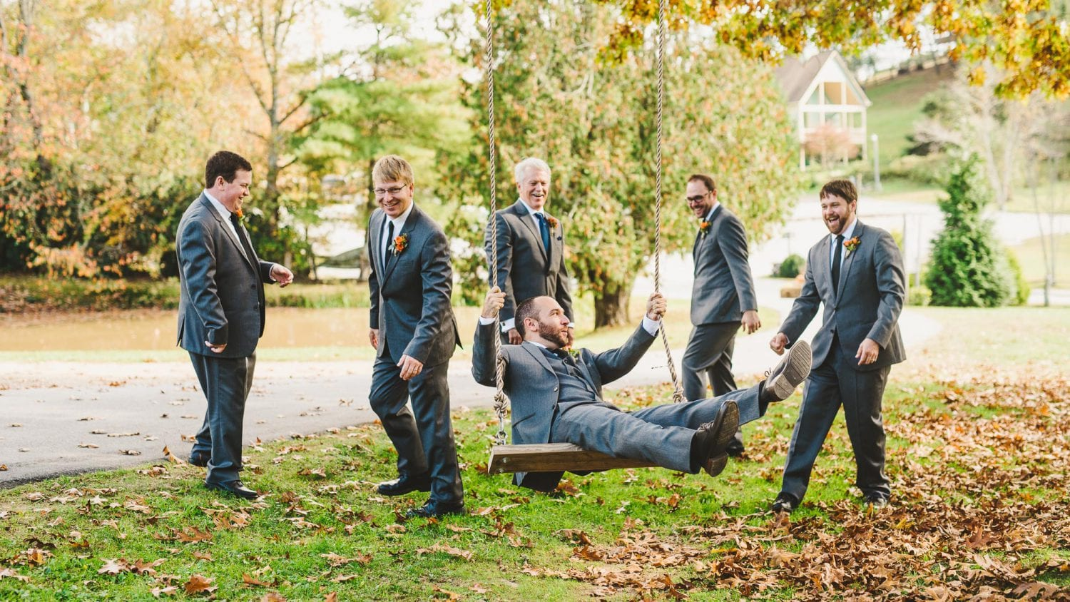 Swings in wedding photos
