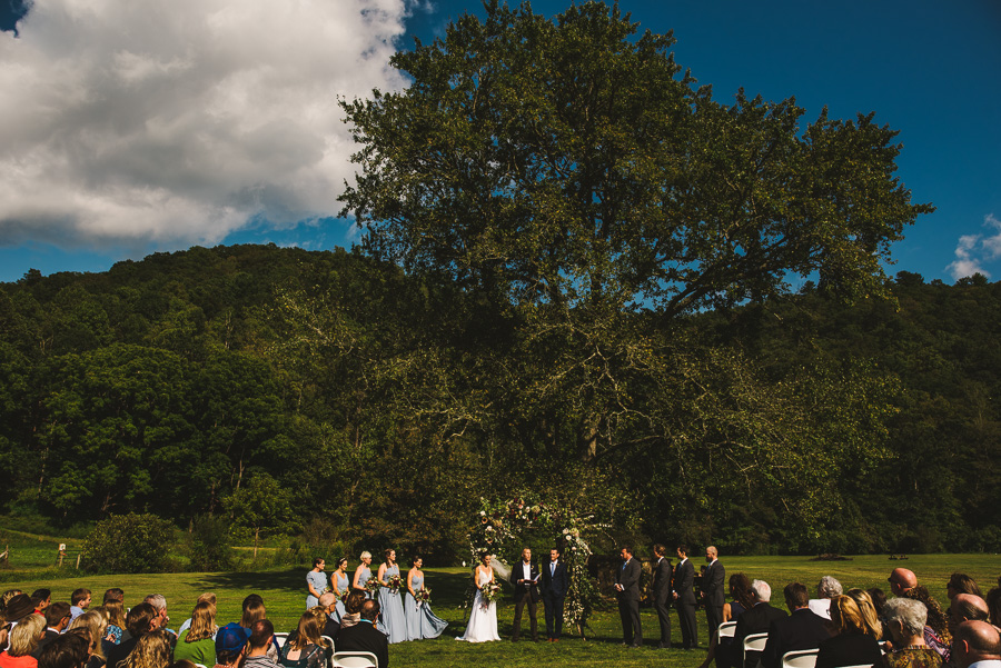 Oskar Blues REEB Ranch wedding ceremony