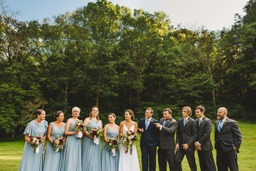 Oskar Blues REEB Ranch wedding bridal party