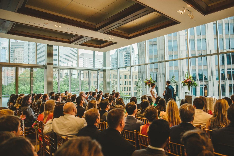 Foundation for the Carolinas wedding ceremony